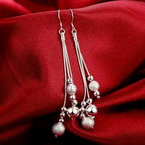Silver Triple Dangle Earrings